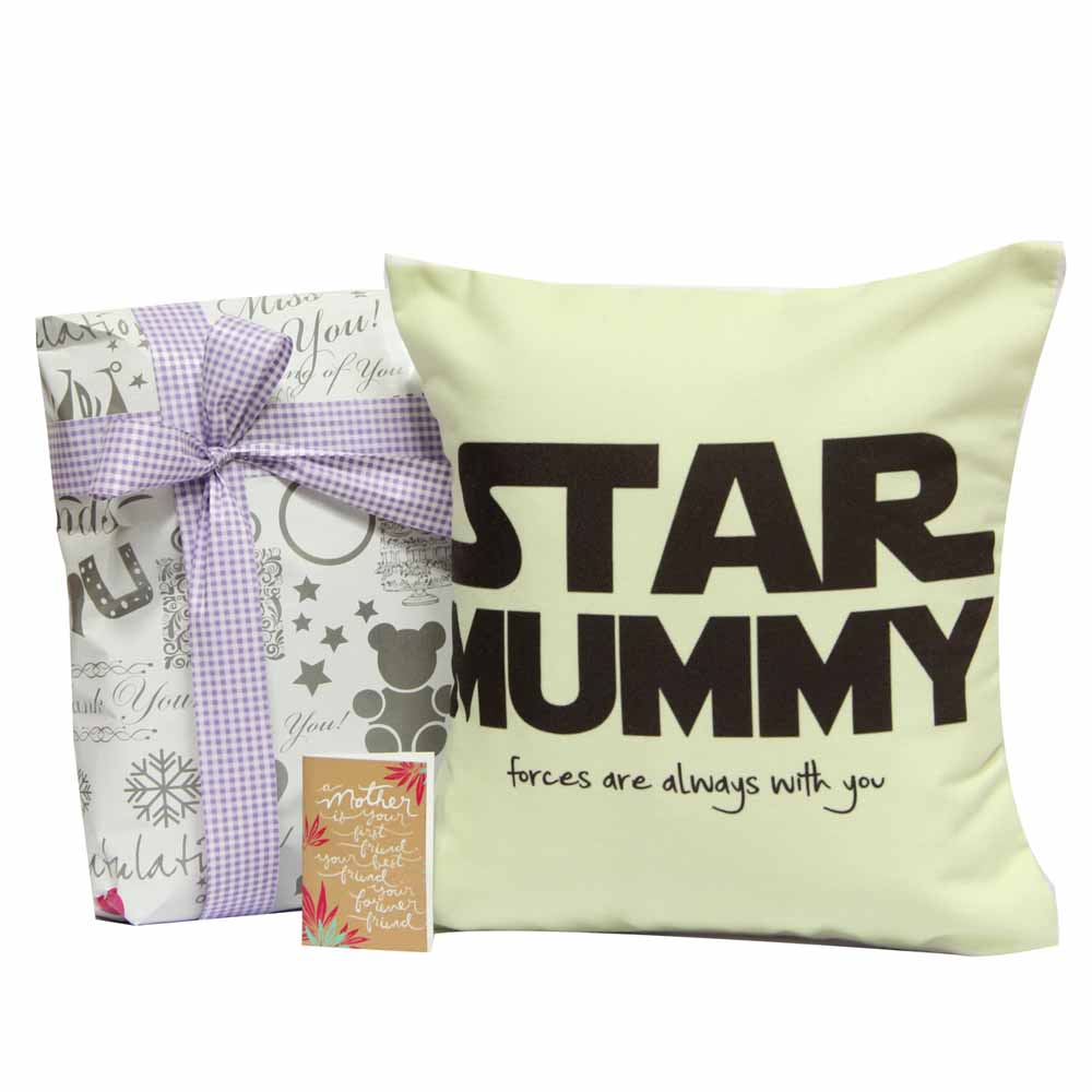 Personalized Gifts-Star Mummy Cushion For Maa