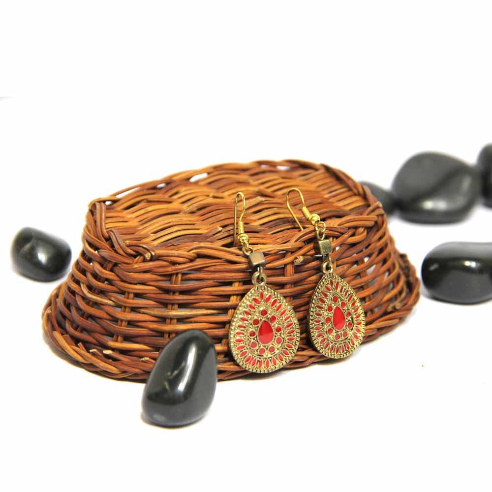 Red Kundan Earring GIFTS111259