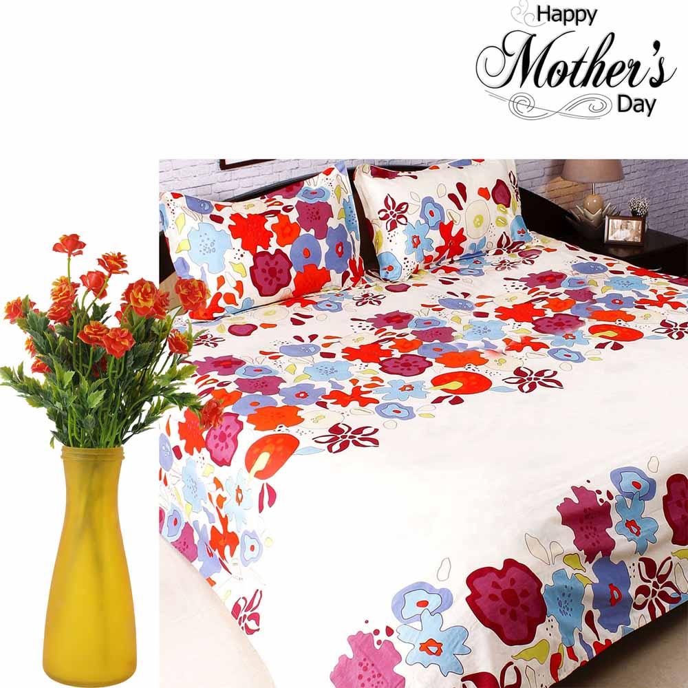 Amazing Artificial Flowers & Bedsheet