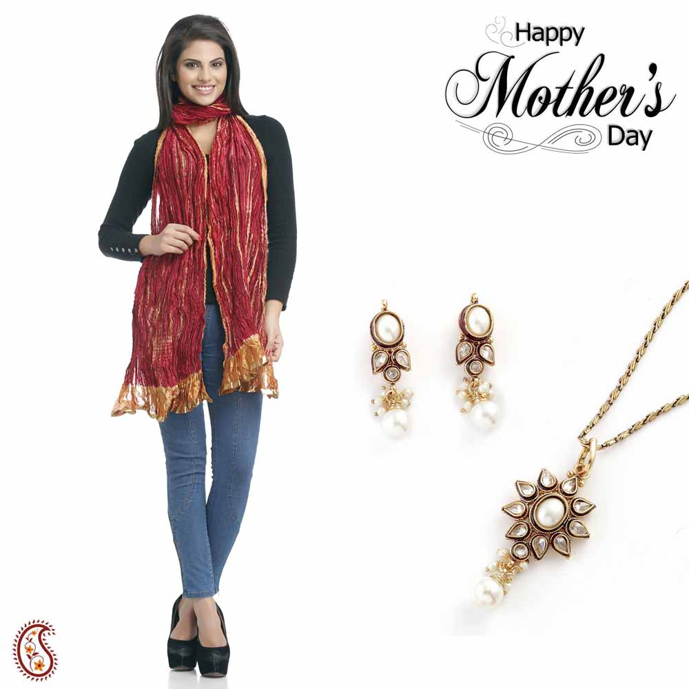Combo of Lovely Pendant Set & Dupatta