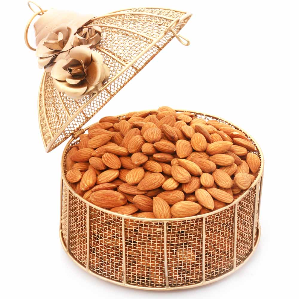Mothers Day-Golden Cage with Almonds