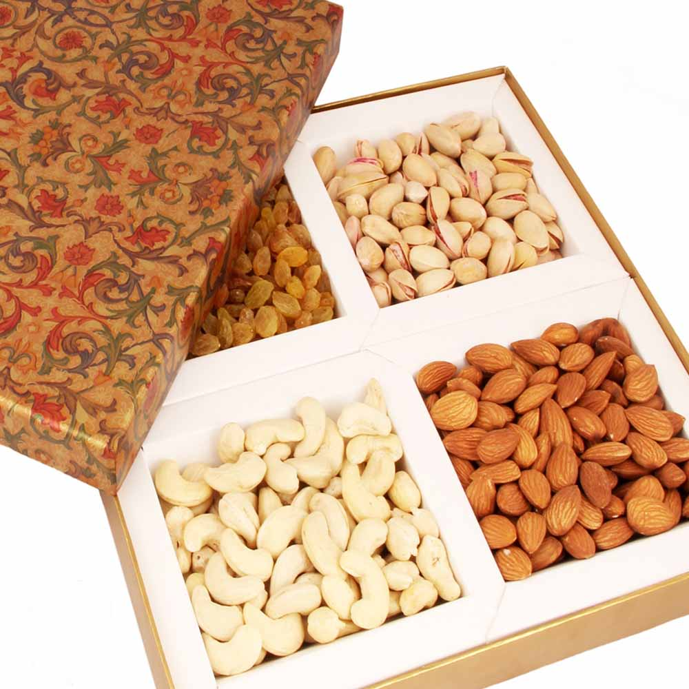 Mothers Day-Brown Printed Dryfruit Box