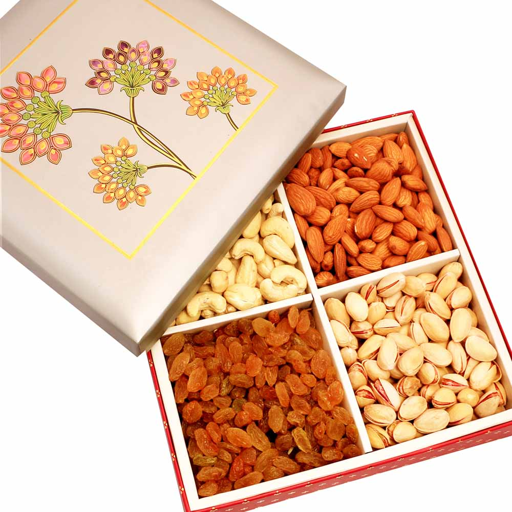 Mothers Day-Silver Printed Dryfruit Box 400 gms