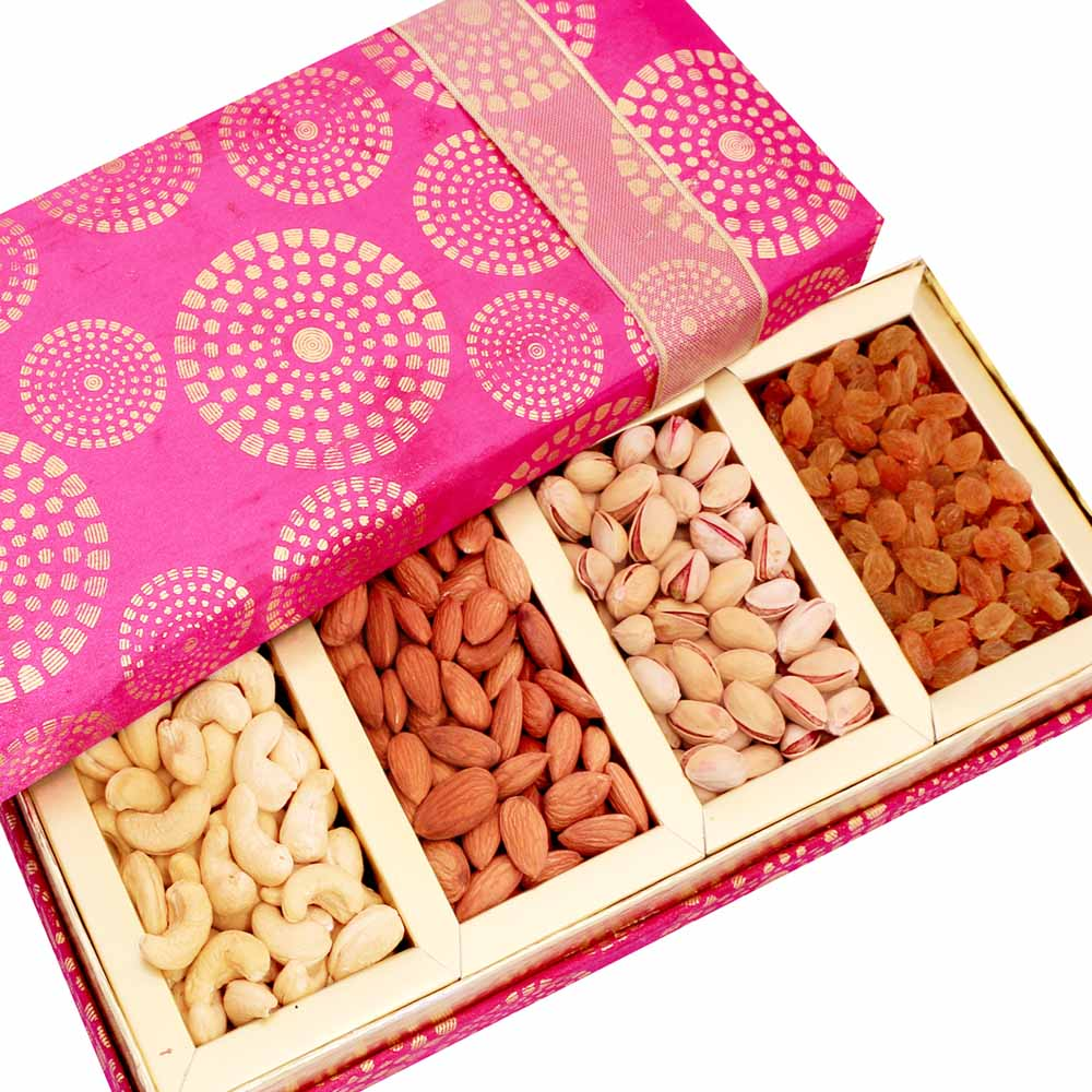 Mothers Day-Satin 4 part Dryfruit Box