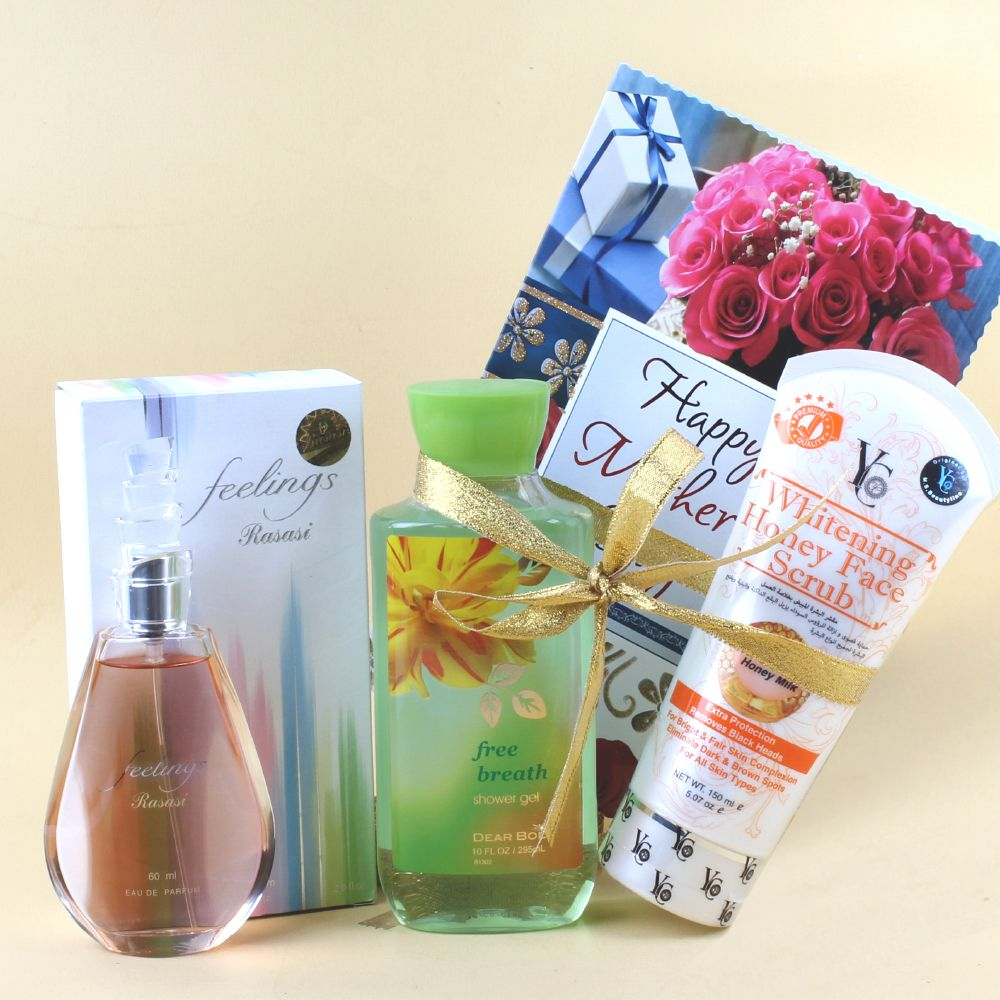 Combination of Perfume and Shower Gel for Mom