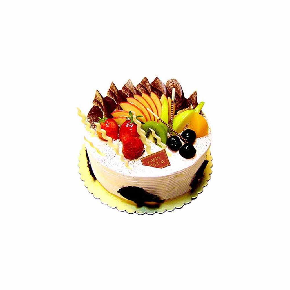 Eggless Fresh Fruit Cake