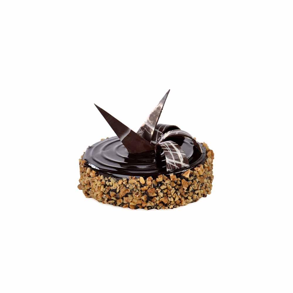 Eggless Chocolate Walnut Truffle Cake