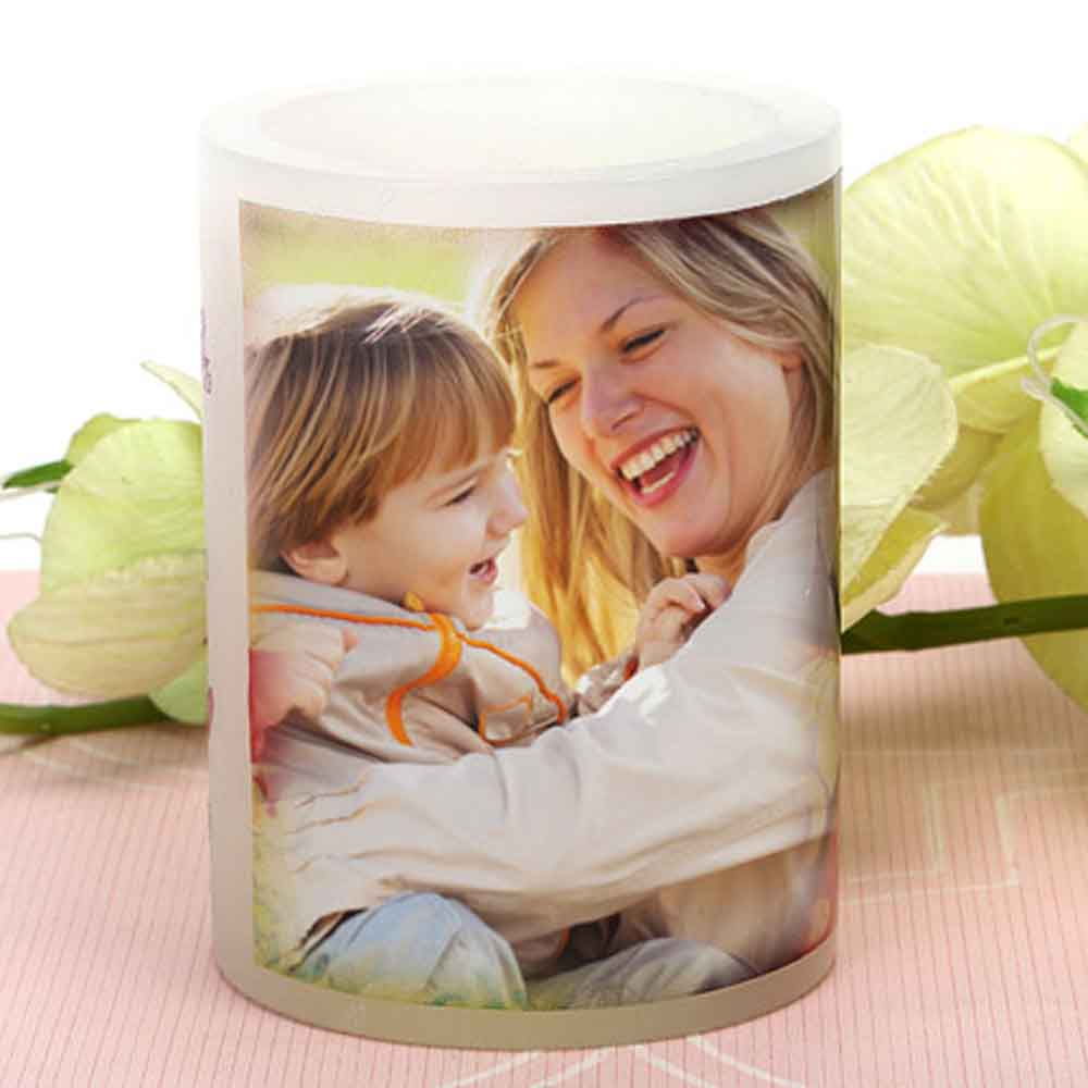 Mothers Day My Mom Personalized Candle