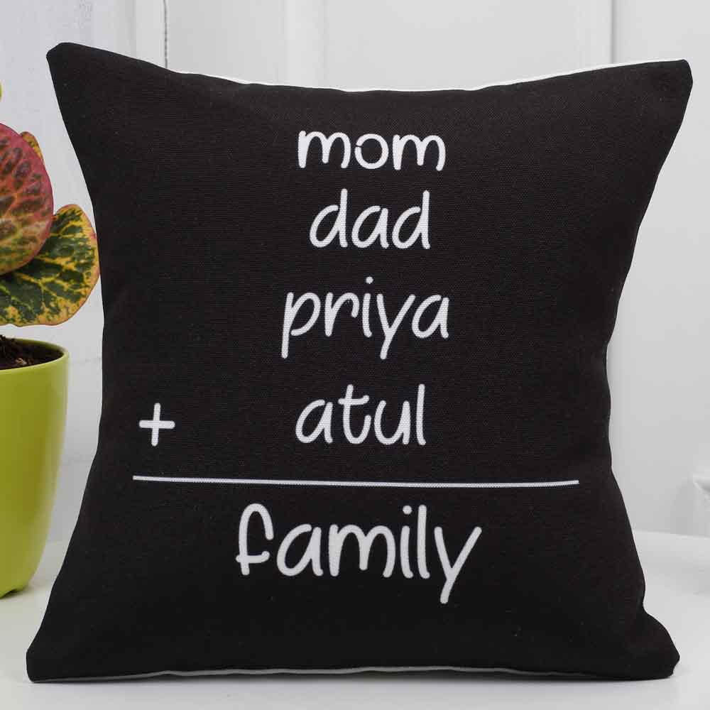 Mothers Day Personalized Family Cushion