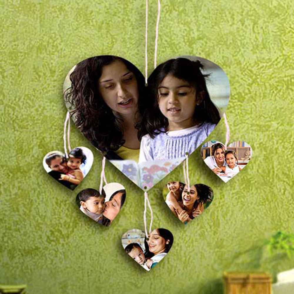 Mothers Day Heartshaped Personalized Wall Hanging