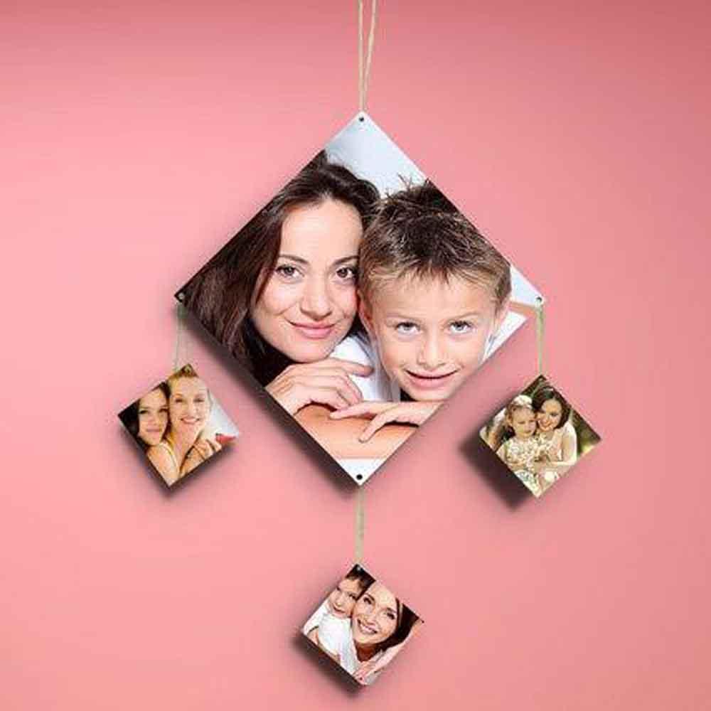 Mothers Day Diamondshaped Personalized Wall Hanging