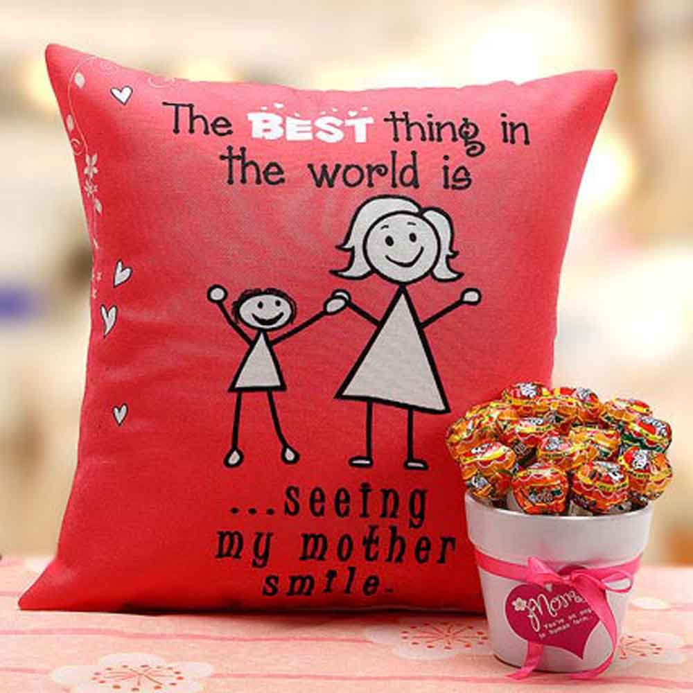 Mothers Day Mother's Cushion & Lollipop