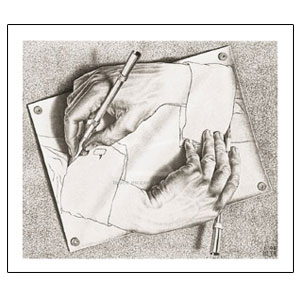 European Museum-Drawing Hands by Escher