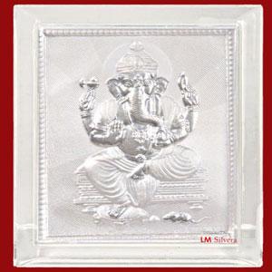 Pure Silver Ganesha Frame