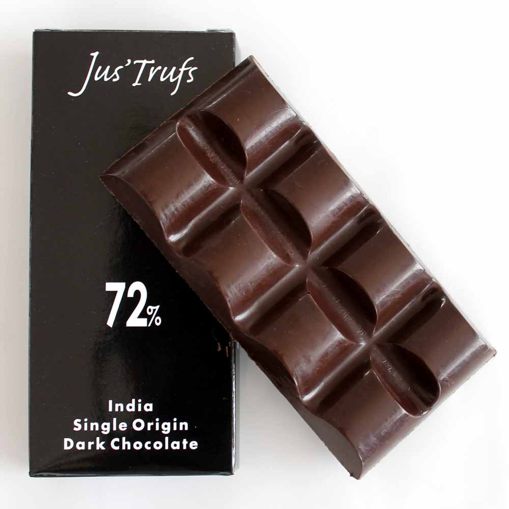 Set of two Artisanal 72% Chocolate Bar 80 gm