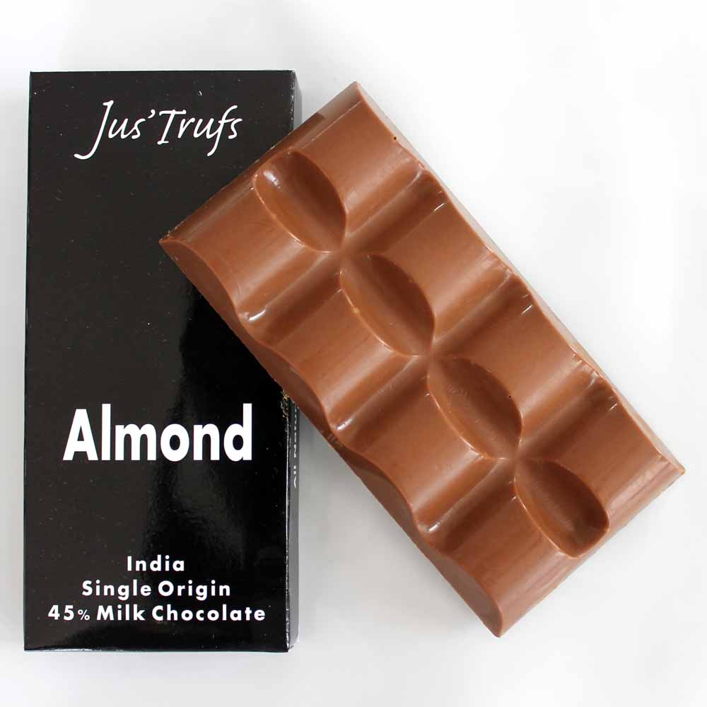 Set of two Artisanal Almond Chocolate Bar 80 gm