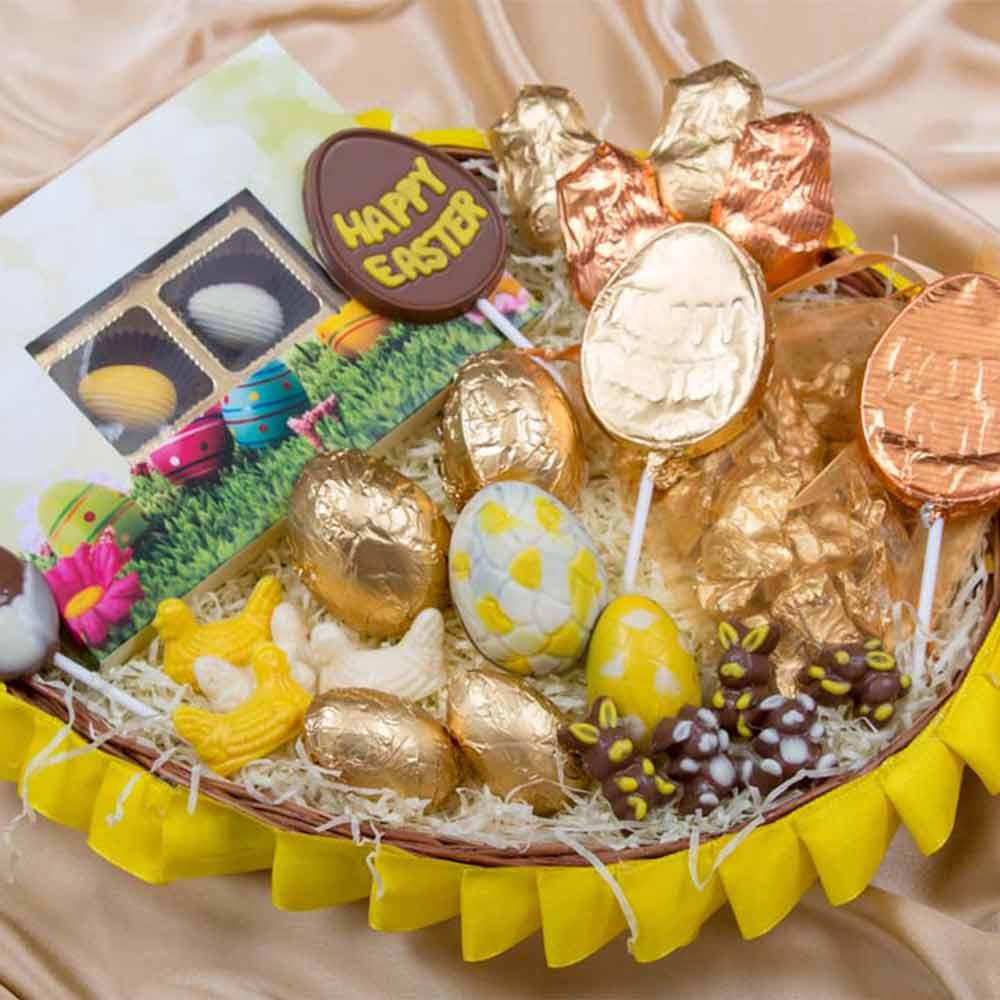 Easter Chocolate Treasure Basket