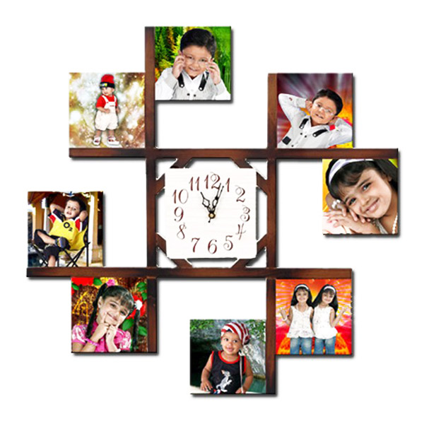 Personalized Photo Frame With Wall Clock India