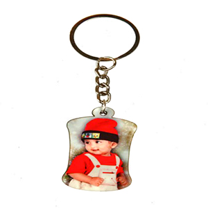 Keychain-Personalized Wood Keychain - Bottle