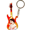 Personalized Wood Keychain - Guitar