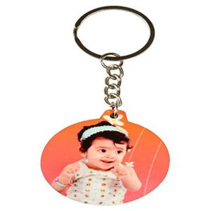 Keychain-Personalized Wood Keychain - Round
