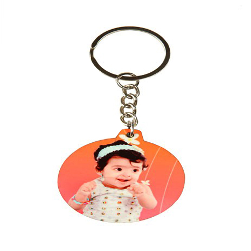 Personalized Wood Keychain - Round
