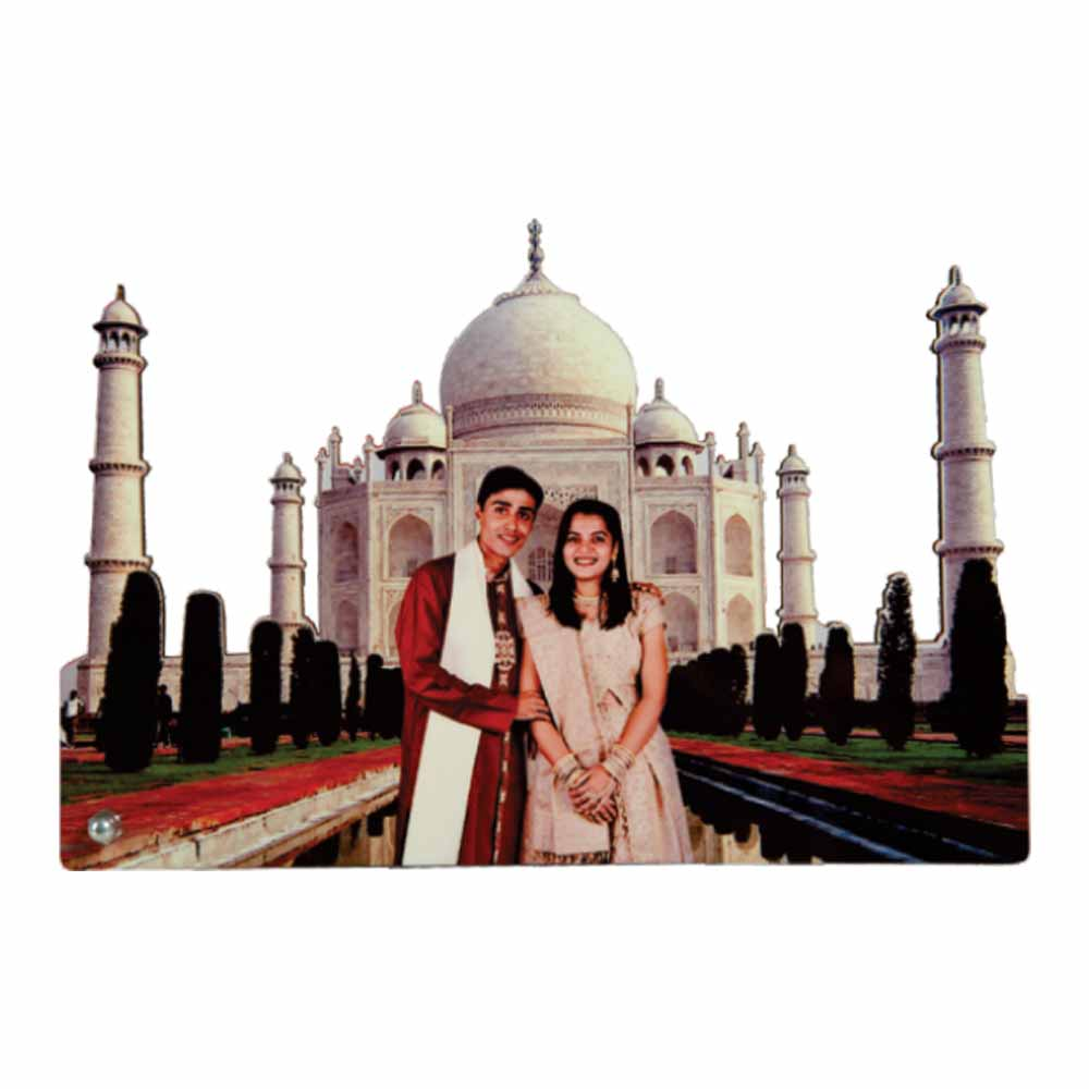 Personalized Sublimation Wooden Frame -Taj Mahal