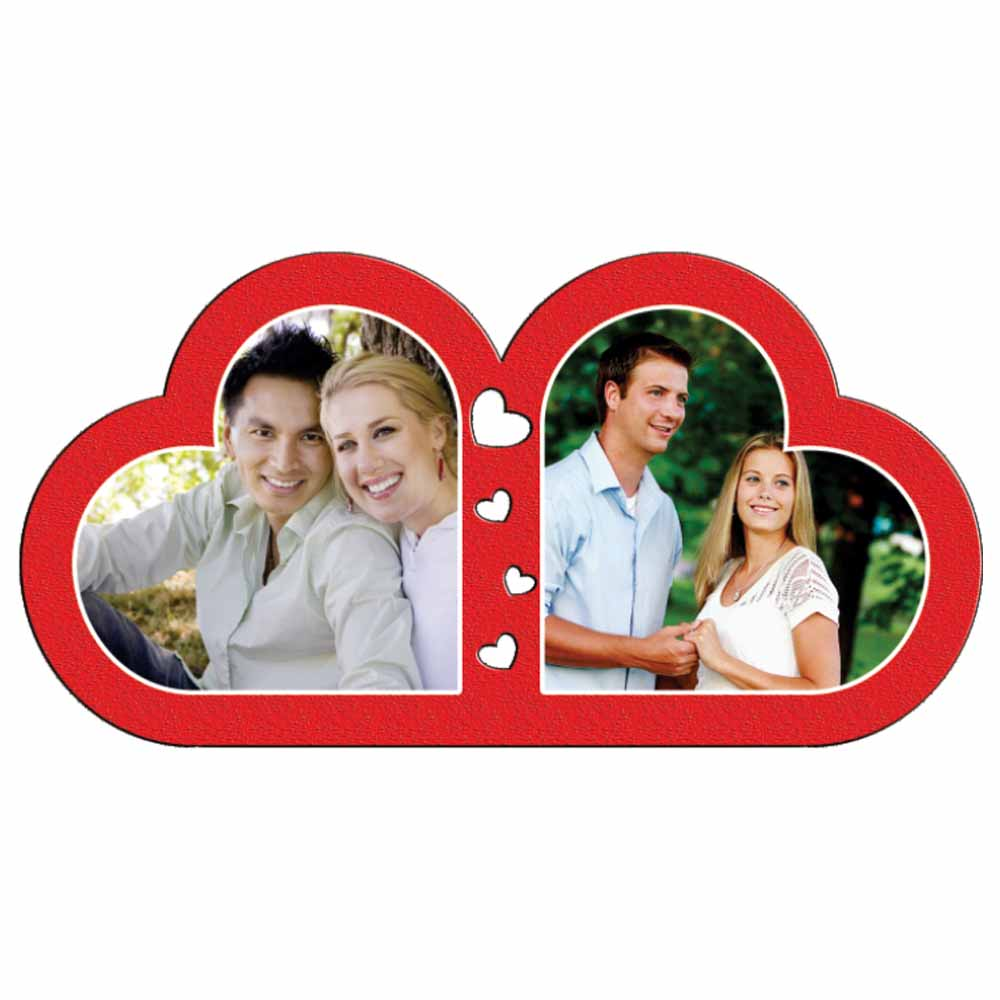 Personalized Love 2 Heart Photo Frame - 17