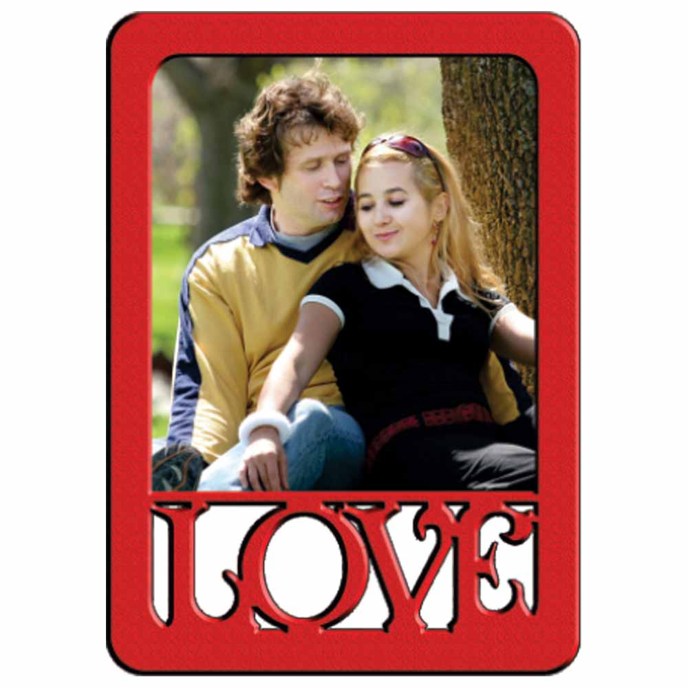 Personalized Love 1PC Red Photo Frame - 19