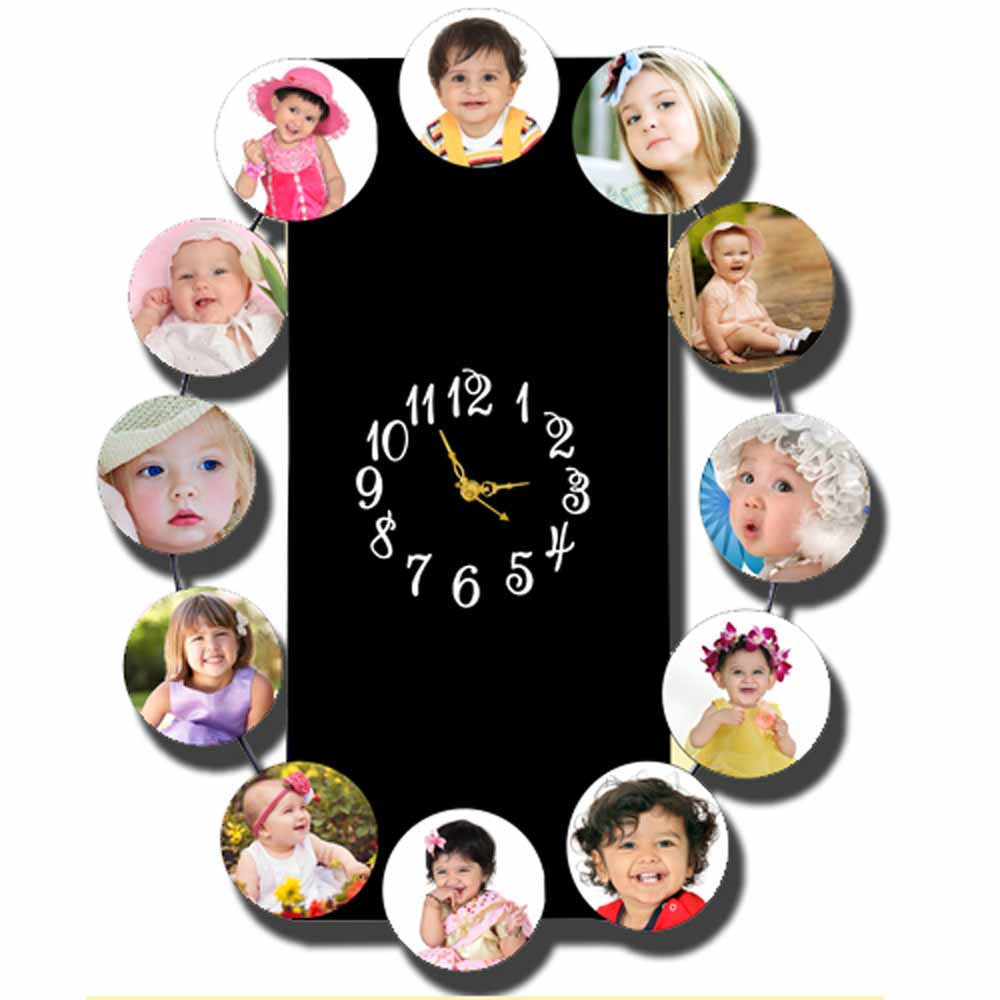 Personalized 4pc Wall Clock - 14