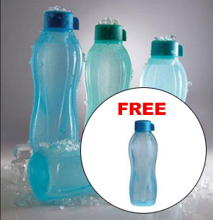Tupperware Aquasafe Water Bottle - Set of 4