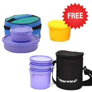 Tupperware His & Her Lunch Box Set