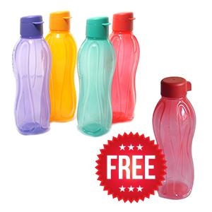 Tupperware Fliptop Bottles - Set of 4