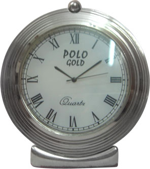 Chrome Plated Table Clock