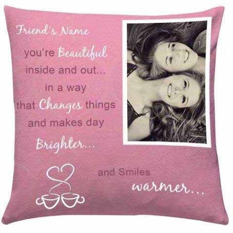 Personalize Name n Image Cushion