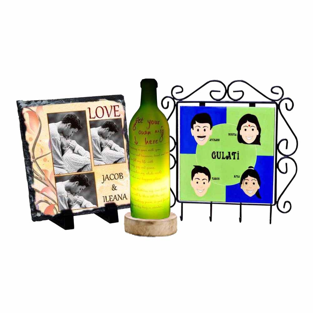Personalized Frame,Key Holder & Bottle