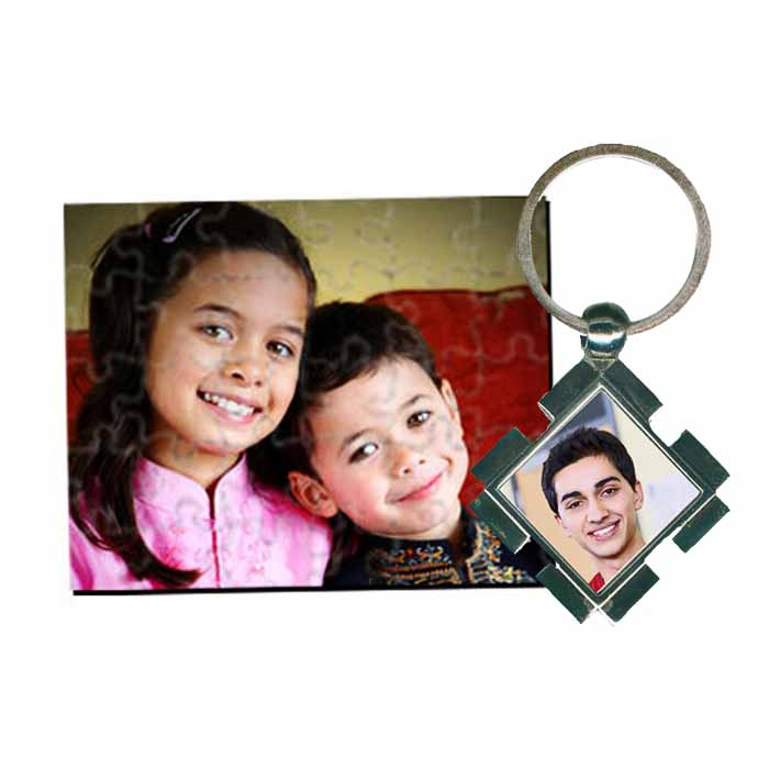 Miscellaneous-Personalized Photo Puzzle & Metal Photo Keychain