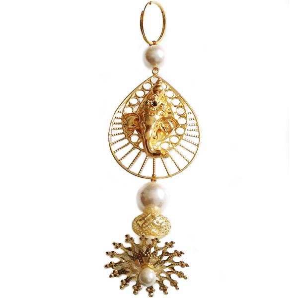 Pearl Gold Ganesha Hanging