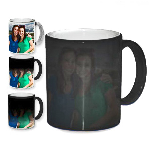 Personalized Color Changing Magic Photo Mug Black