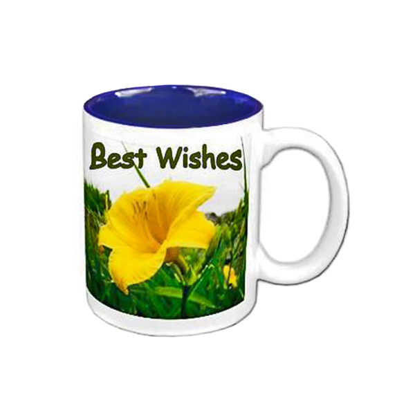 Mugs-Personalized Two Tone Blue Mug