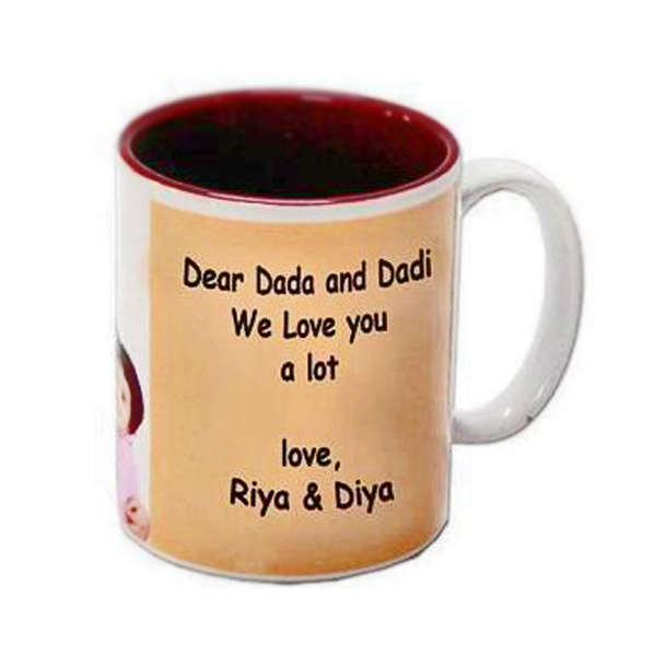 Personalized Two Tone Maroon Mug