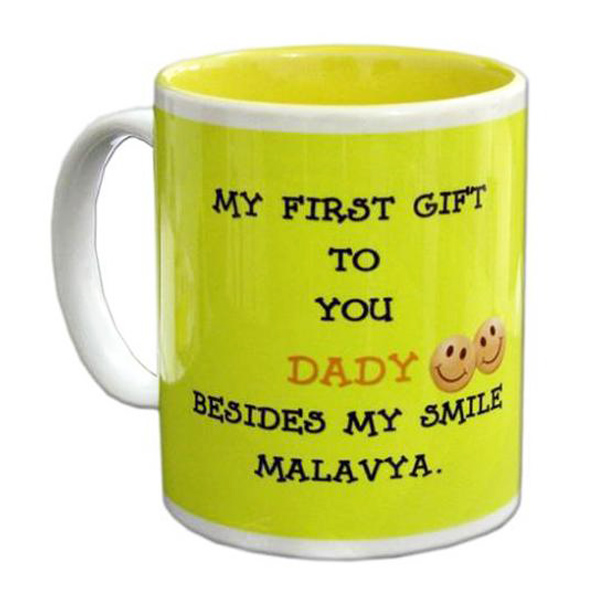 Personalized Two Tone Yellow Mug
