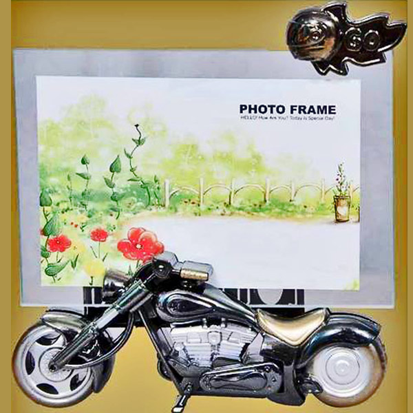 Funky Photo Frame with Bike