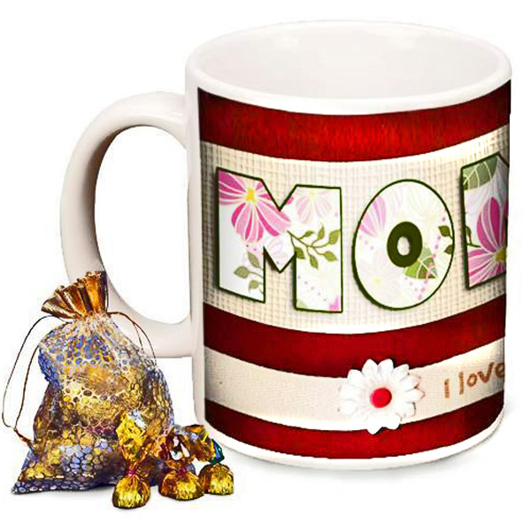 Personalized Mom Photo Mug with Premium Chocolates