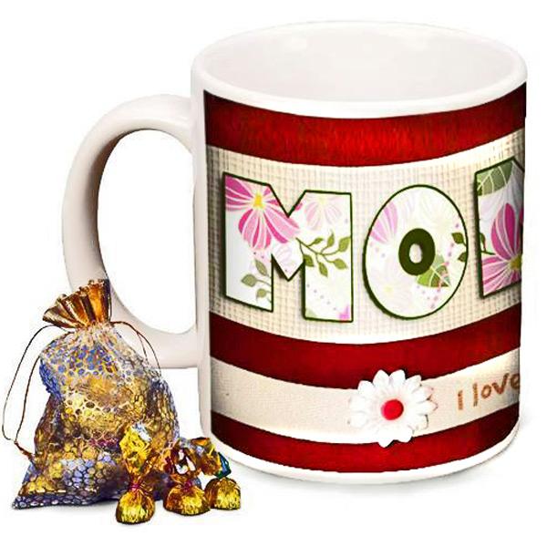 Mugs-Personalized Mom Photo Mug with Premium Chocolates