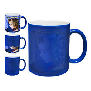 Personalized Color Changing Magic Photo Mug - Blue