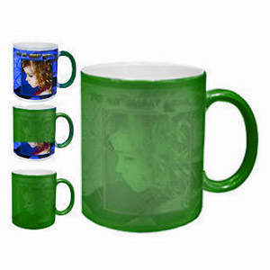 Personalized Color Changing Magic Photo Mug Green