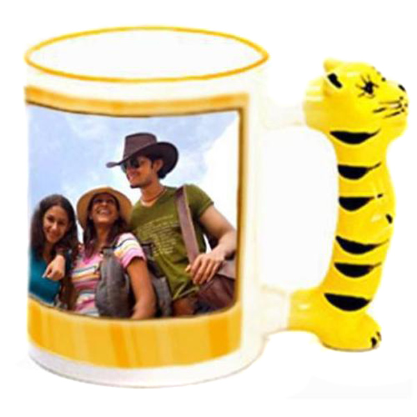 Personalized Tiger Handle Photo Mug