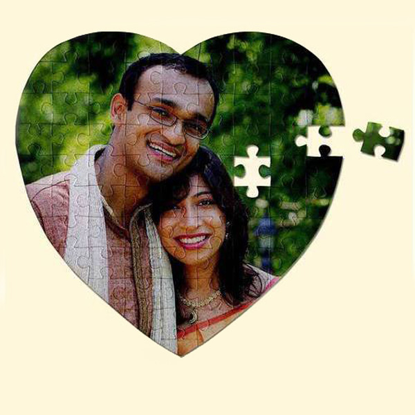 Personalized Photo Puzzle Heart