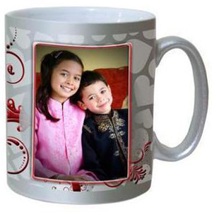 Personalized Silver Photo Mug